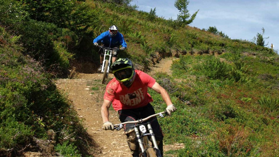 mountain bike at Guzet